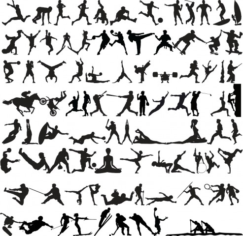 Set of Sports Silhouettes isolated on white